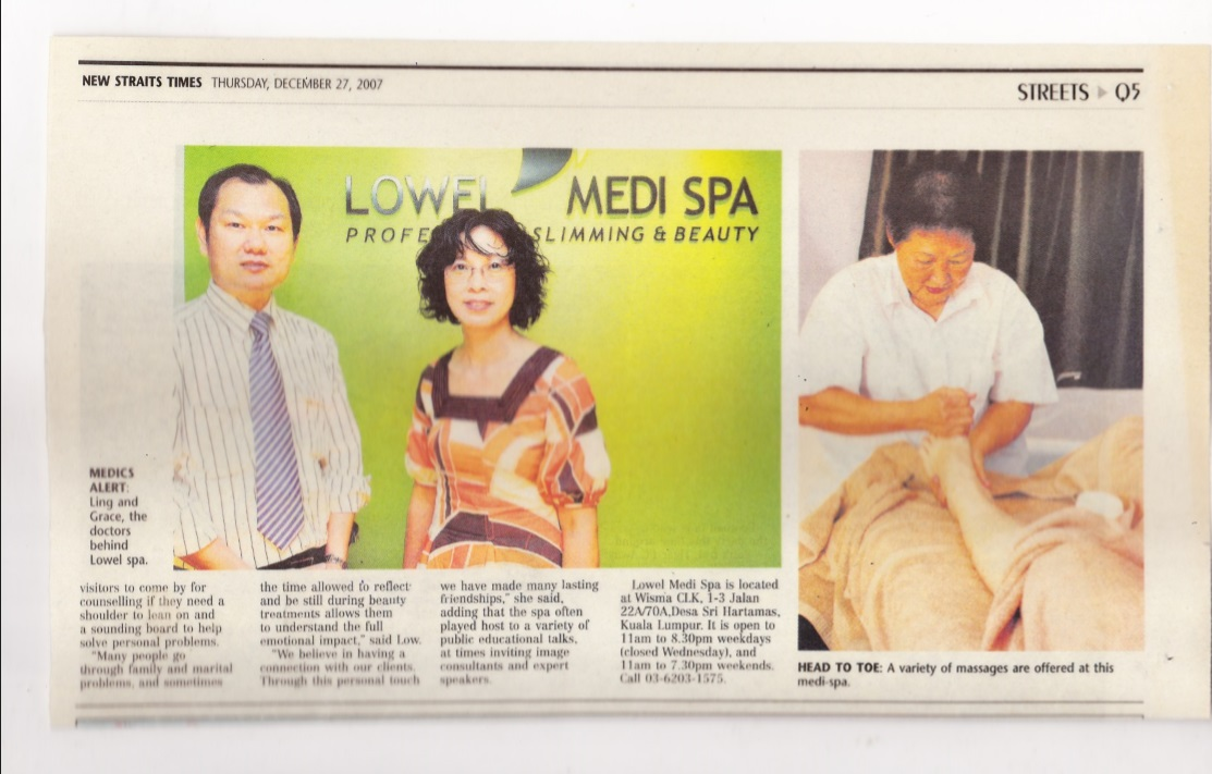Dr David Ling interviewed by media The Star, on cosmetic surgery for the medical spa.