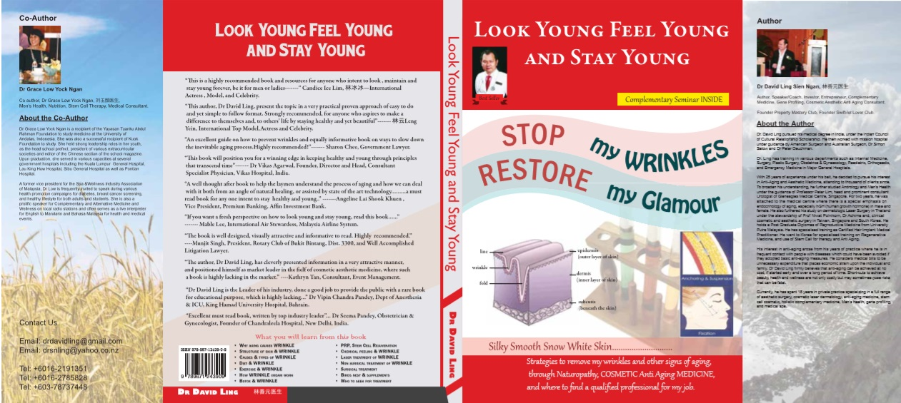 Dr David Ling Authored Best Seller: Look Young, Feel Young & Stay Young.
