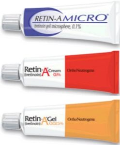Retin A Cream: Retin A concentration Retin A 0.025% is the lowest strength cream. A medium strength is 0.05%, then strong concentration at 0.1 %, double concentration each step up. Using 0.1% or more will be very irritating and need prescription. Rein A is one of the proprietary brand name for retinoids cream. Retinoid is a group of related compound derived from Vitamin A. Retinoic acid, also called tretinoin is the generic compound.